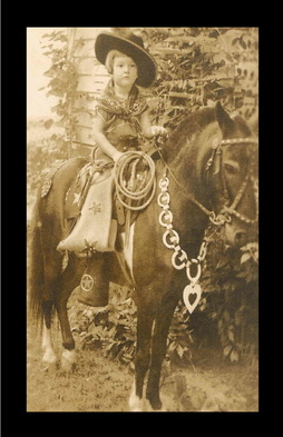 wild west cowgirl on horse