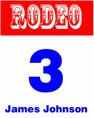 Rodeo Contestant Back Number