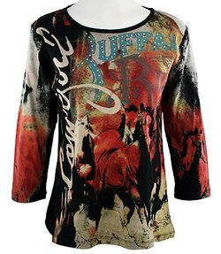 western wear for women horse print top