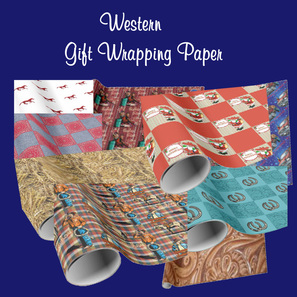 western gift wrapping paper