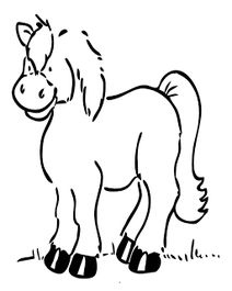 pony coloring page