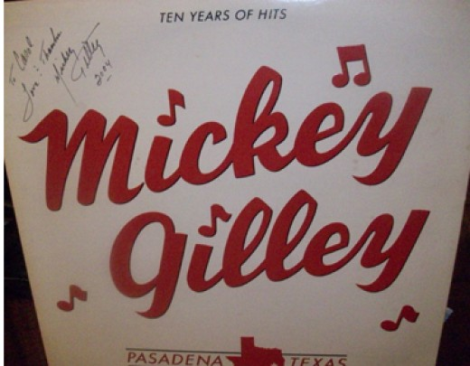 Mickey Gilly From Urban Cowboy Autographed Album