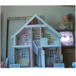 plastic canvas doll house built by dancing cowgirl design