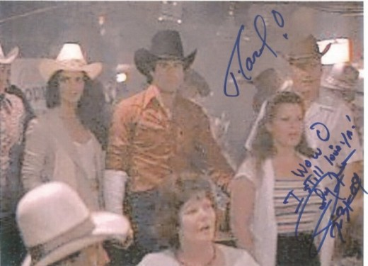 Urban Cowboy Photo signed by Johnny Lee