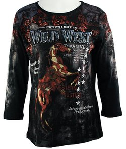 women's western pull over top