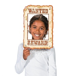 wanted sign photo prop