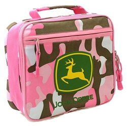 pink camo John Deere lunch box