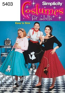 poodle skirt costume pattern