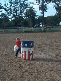 stick horse barrel racing