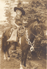 vintgae cowgirl photo
