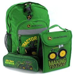 John Deere Backpack and lunch box
