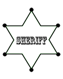 Free stencile dancing cowgirl design free sheriff badge template pronofoot35fo Images