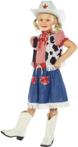 cow print vest and dress for girls