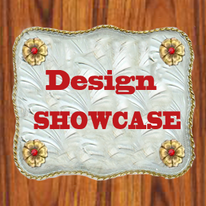 design showcase of dancing cowgirl design