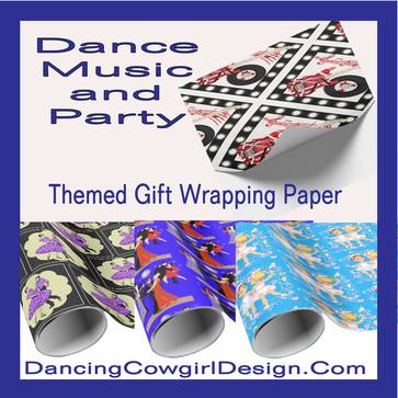 dance gift wrapping dancing cowgirl design
