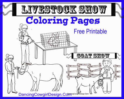 Livestock Show Animals Coloring