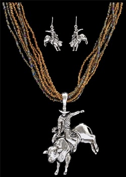 bull rider necklace