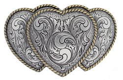 cowgirl belt buckle heart shape