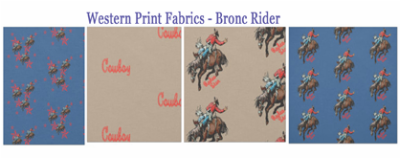 western fabric rodeo bronc rider