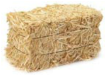 Hay bale for crafts