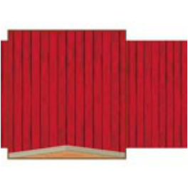 red barn background western prop