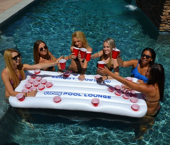 beer pong swimming pool float