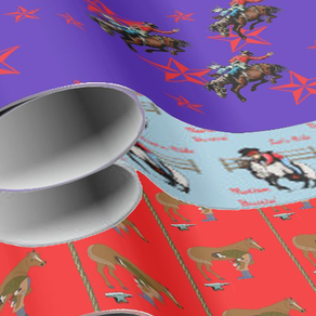 rodeo wrapping paper