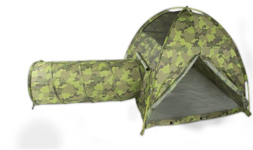 camo tent with tunnel