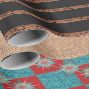 leather print wrapping paper