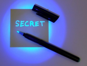 invisible ink secret message