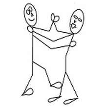 stick people dancing