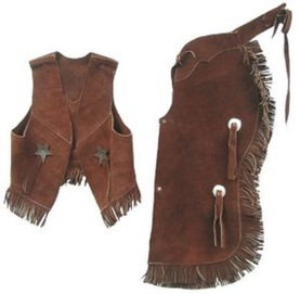 Western vest and chaps