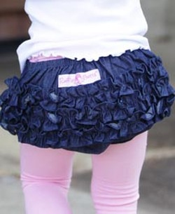 denim diaper cover with ruffles