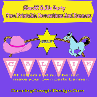 Sherrif Callie Party Free printable decortaions