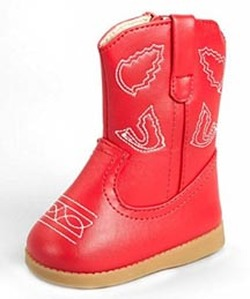 cowboy boots for infant and toddler red