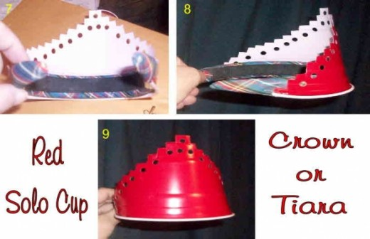 red solo cup crown or tiara