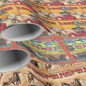 cowboy wrapping paper