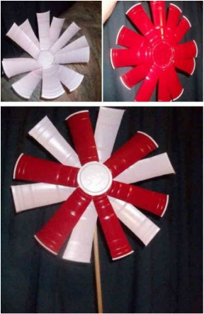 how to make a flower out of plastic cups