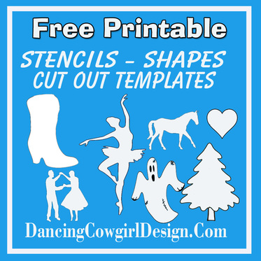 picture relating to Free Printable Stencils to Cut Out named Absolutely free Stencile - DANCING COWGIRL Style