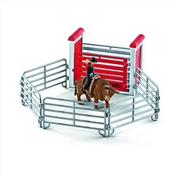 bull riding rodeo toy playset