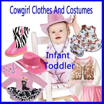 3370d800118 Cowgirl Clothes For Infant And Toddler Girls - DANCING COWGIRL DESIGN