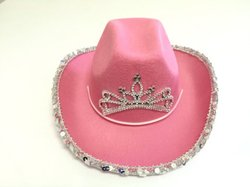 cowboy hat for girls pink