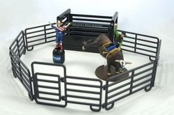 bull riding toy set