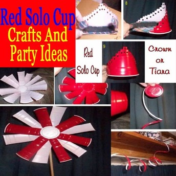 red solo cup party ideas and crafts from red solo cups