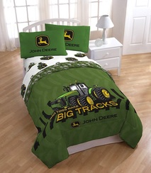 John Deere Green Tractor Bed set for boys