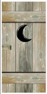 outhouse door cover western party prop