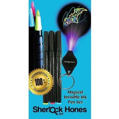 invisible ink pen with black light