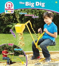 toy crane for digging