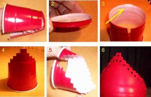 tiara or crown made from solo plastic cups