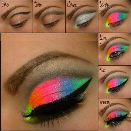 neon eye shadow kit instructions